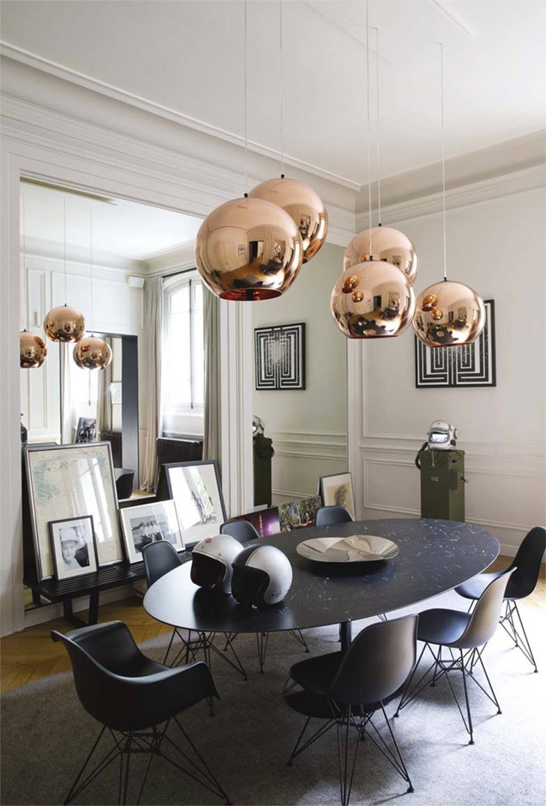 Tom Dixon Copper Round Pendant | Rouse Home