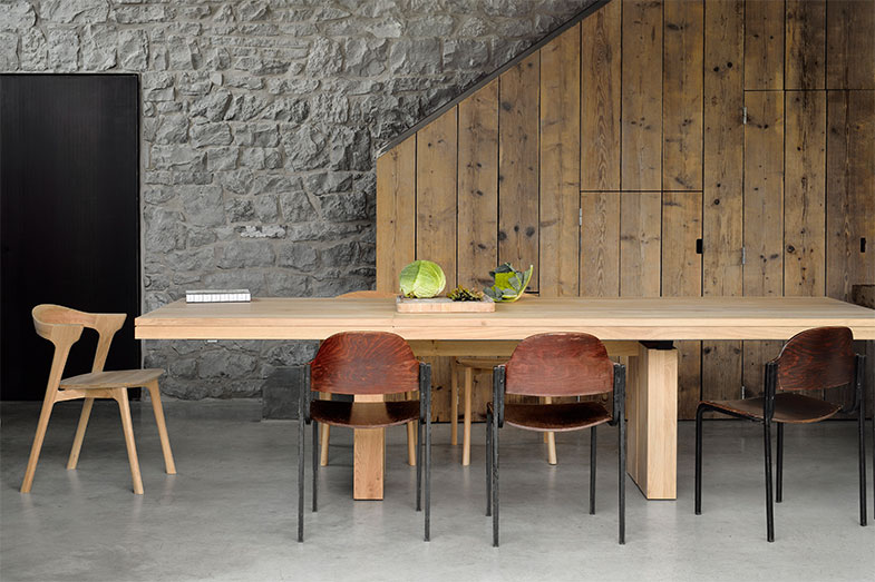 Ethnicraft Double Extendable Dining Table   Rouse Home