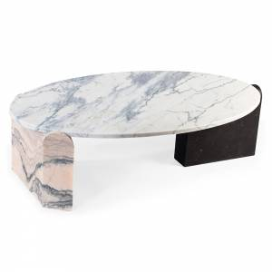 Arnes Marble Oval Coffee Table