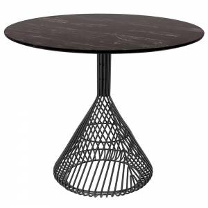 Bistro Table - Black Marble Top