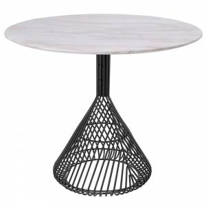 Bistro Table - White Marble Top