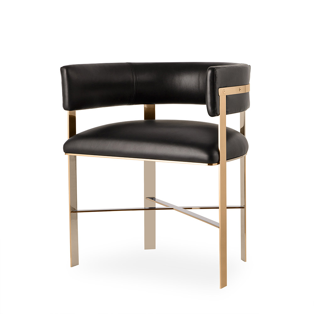 Super Art Dining Chair Black Leather Brass Alphanode Cool Chair Designs And Ideas Alphanodeonline