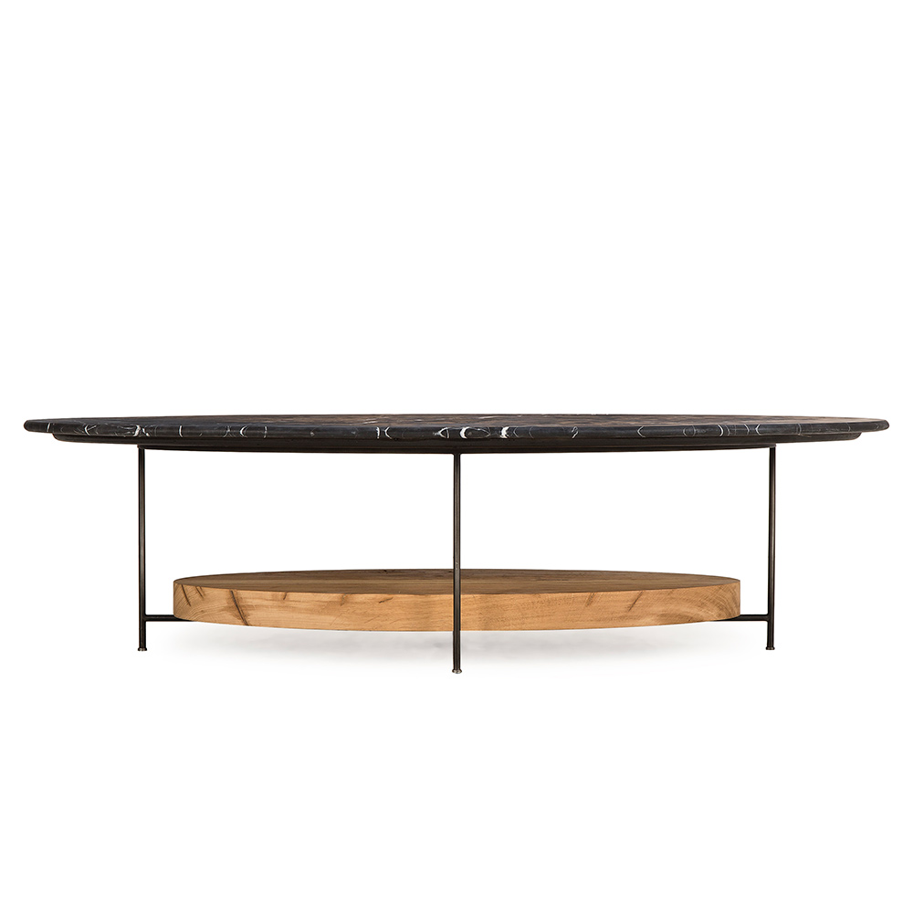 Black Coffee Table With Marble Top: Olivia Coffee Table