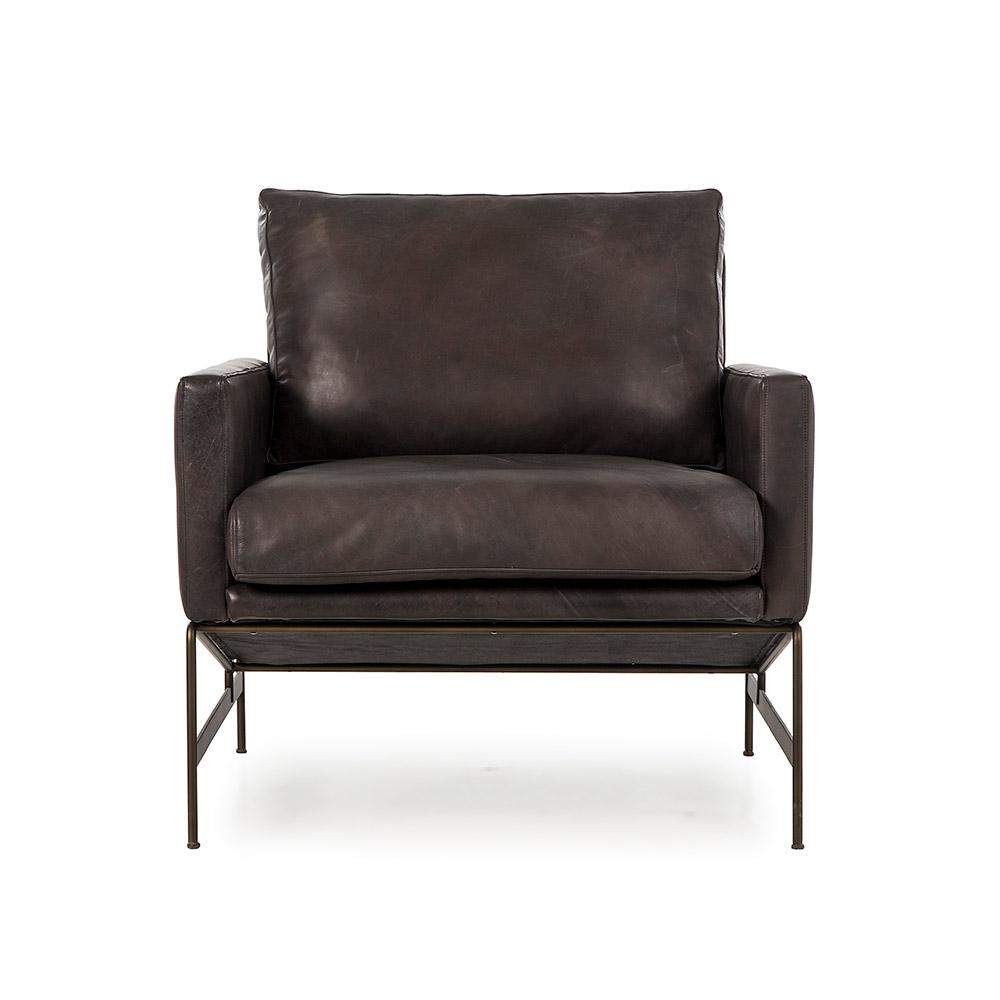 Awe Inspiring Vanessa Lounge Chair Destroyed Black Leather Uwap Interior Chair Design Uwaporg